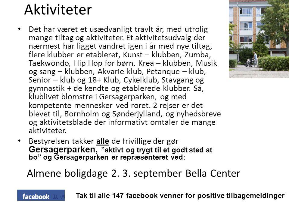 Aktiviteter Almene boligdage 2. 3. september Bella Center