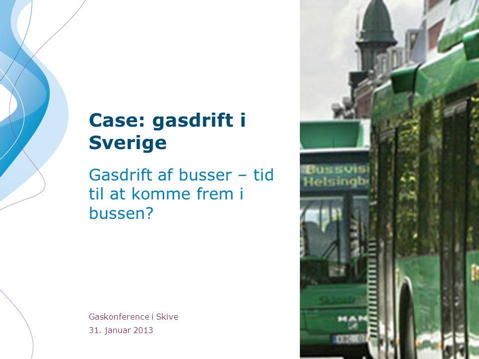 Case: gasdrift i Sverige