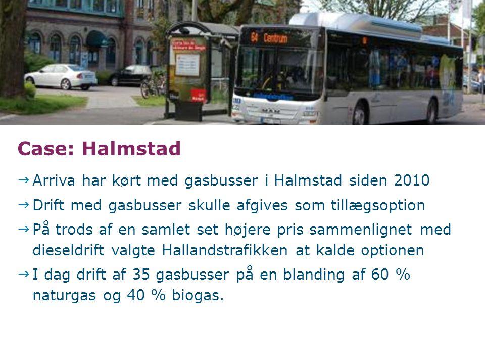 Case: Halmstad Arriva har kørt med gasbusser i Halmstad siden 2010