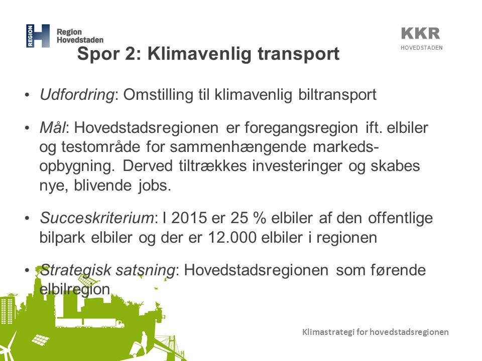 Spor 2: Klimavenlig transport