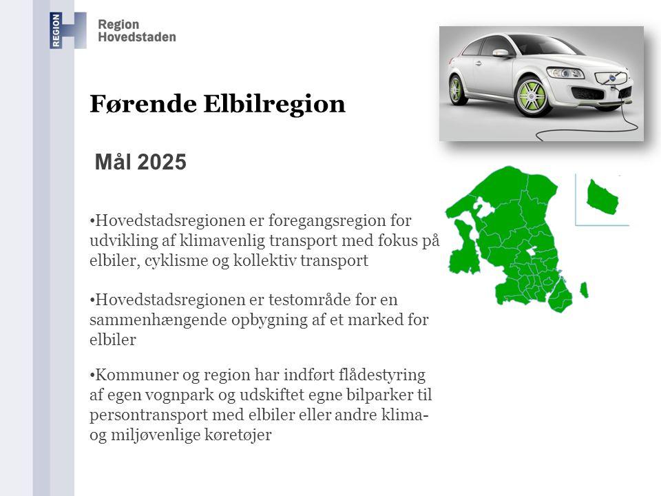 Førende Elbilregion Mål 2025