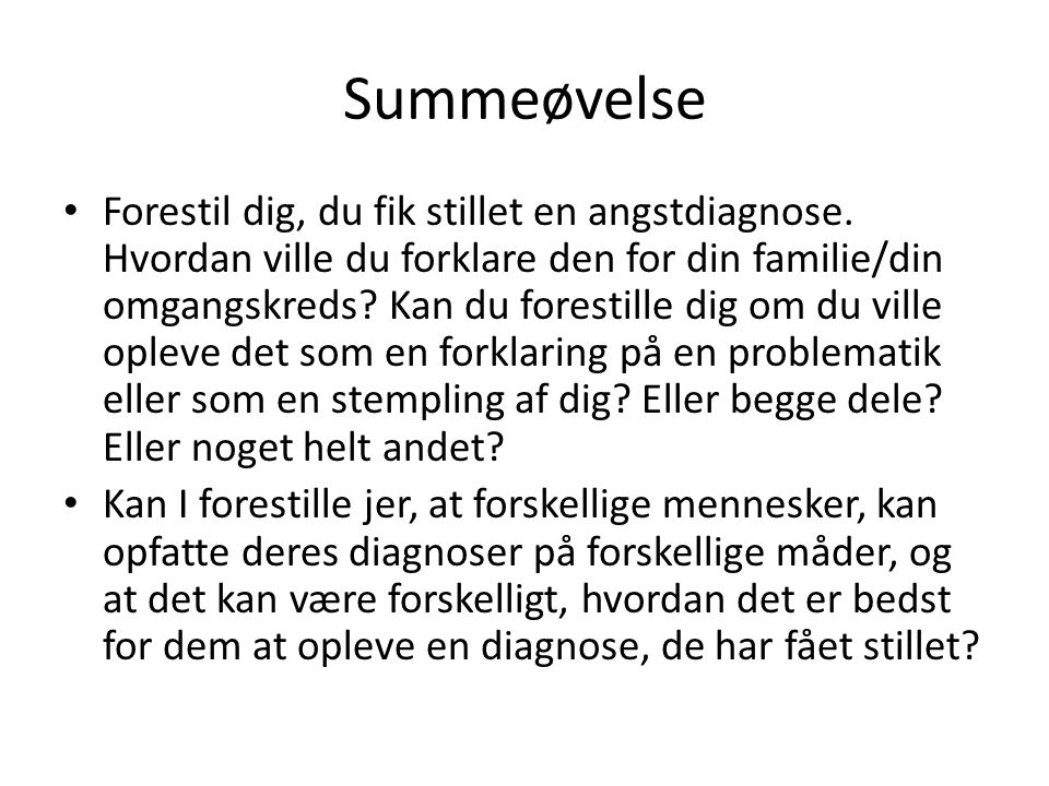 Summeøvelse