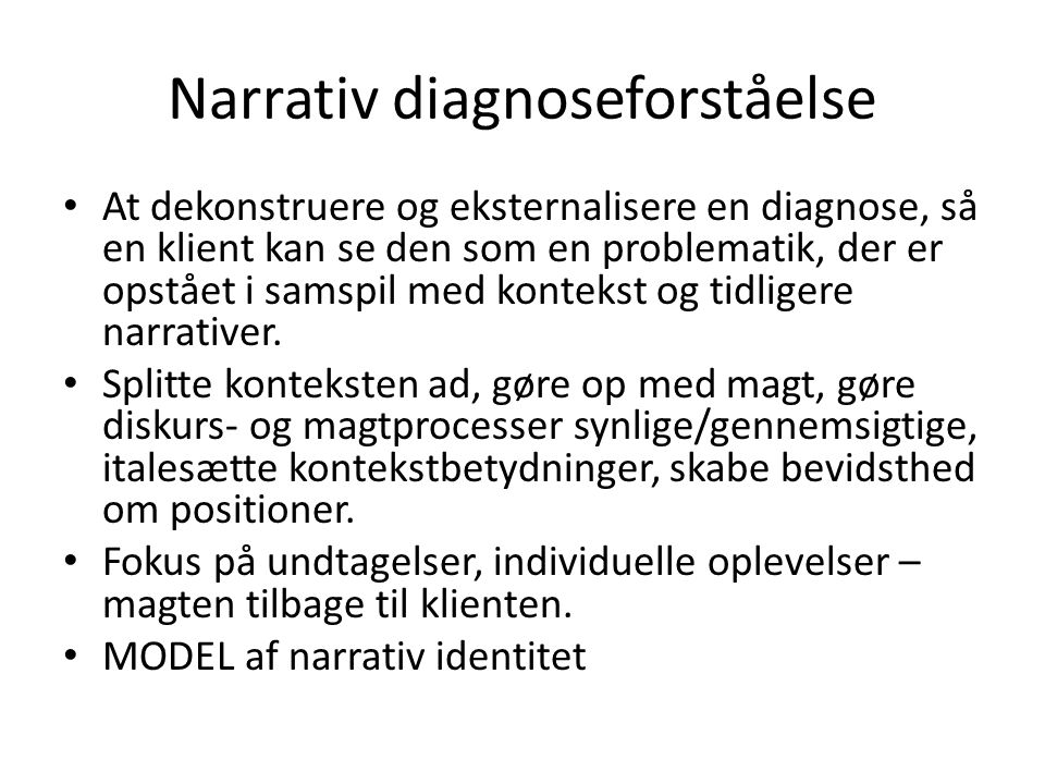 Narrativ diagnoseforståelse
