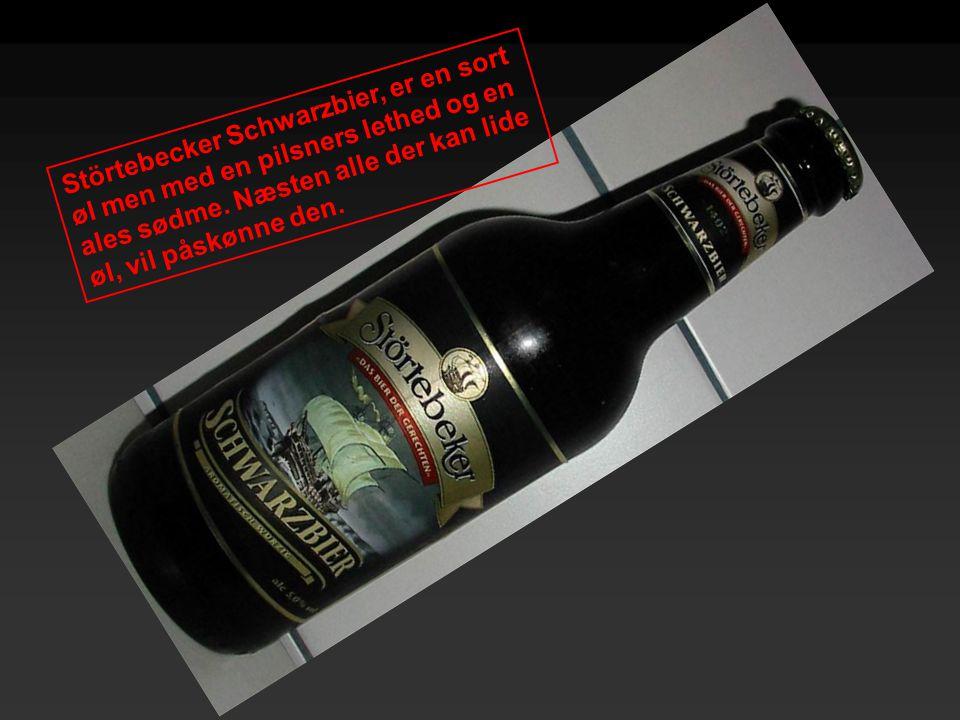 Störtebecker Schwarzbier, er en sort øl men med en pilsners lethed og en ales sødme.