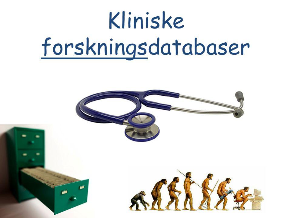 Kliniske forskningsdatabaser
