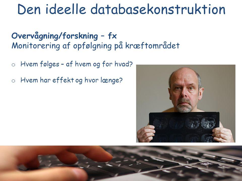 Den ideelle databasekonstruktion