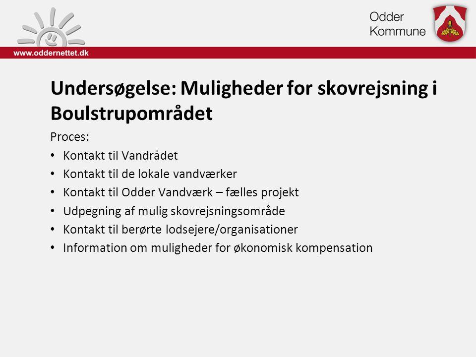 Undersøgelse: Muligheder for skovrejsning i Boulstrupområdet