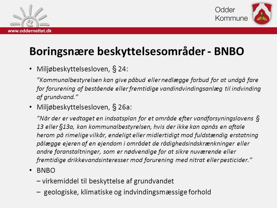 Boringsnære beskyttelsesområder - BNBO