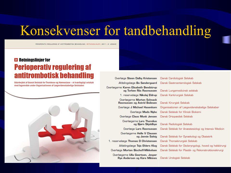 Konsekvenser for tandbehandling