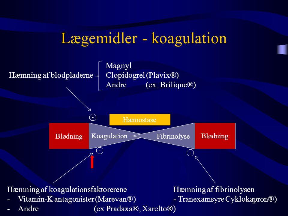 Lægemidler - koagulation