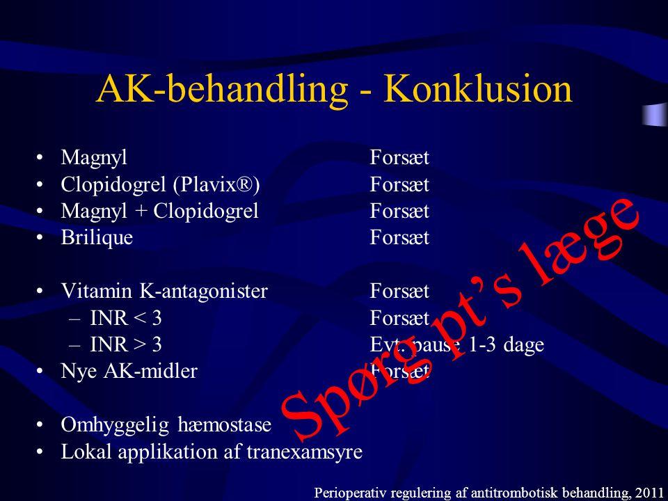 AK-behandling - Konklusion