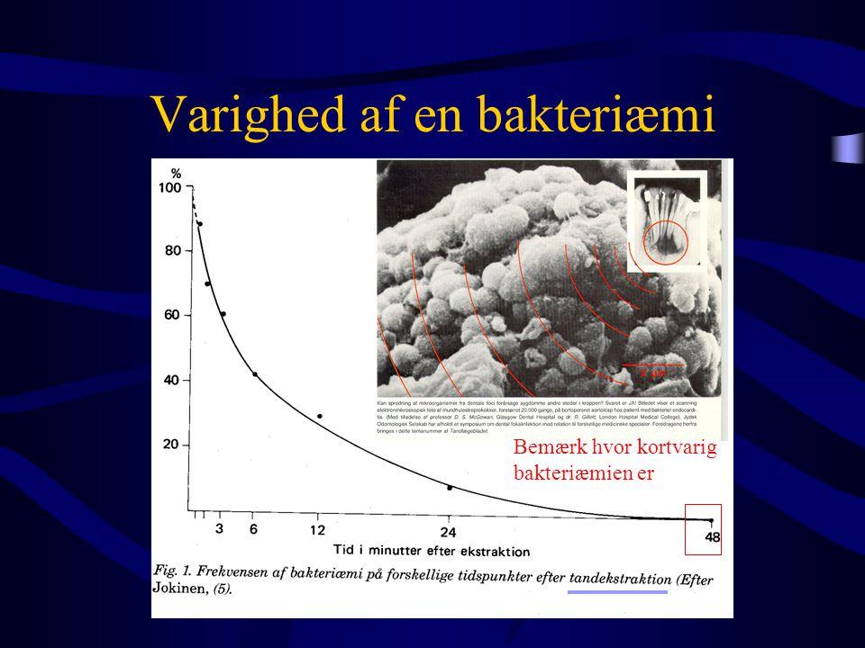 Varighed af en bakteriæmi