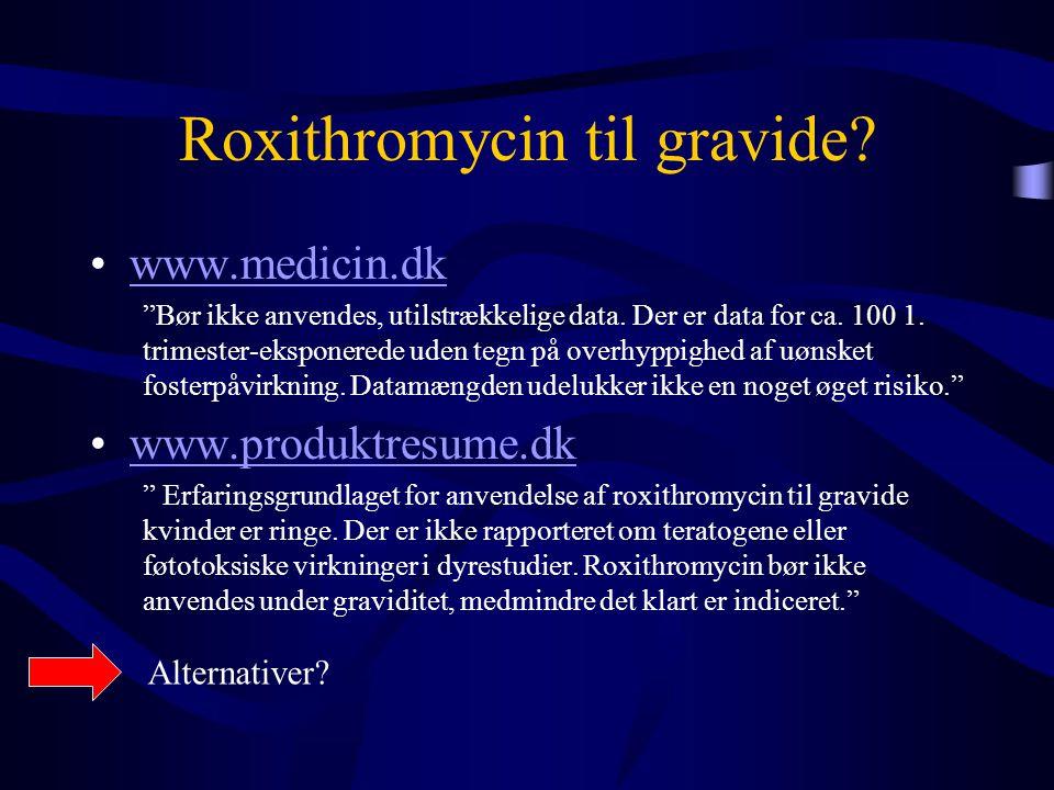 Roxithromycin til gravide