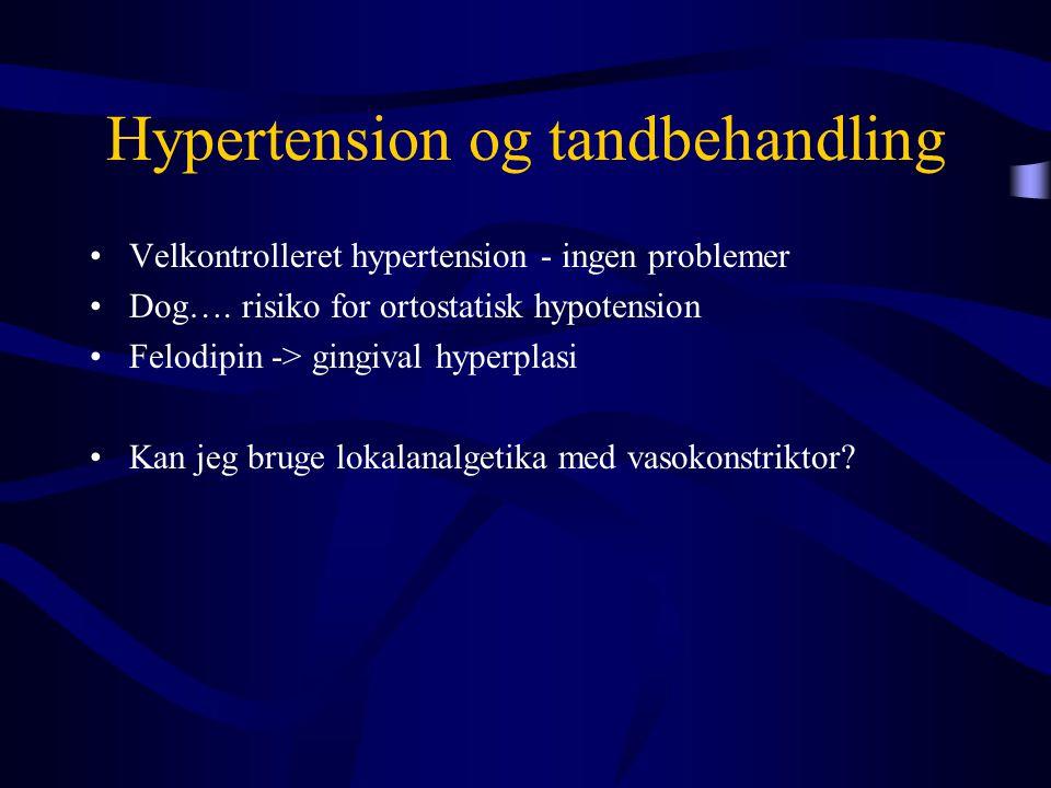 Hypertension og tandbehandling