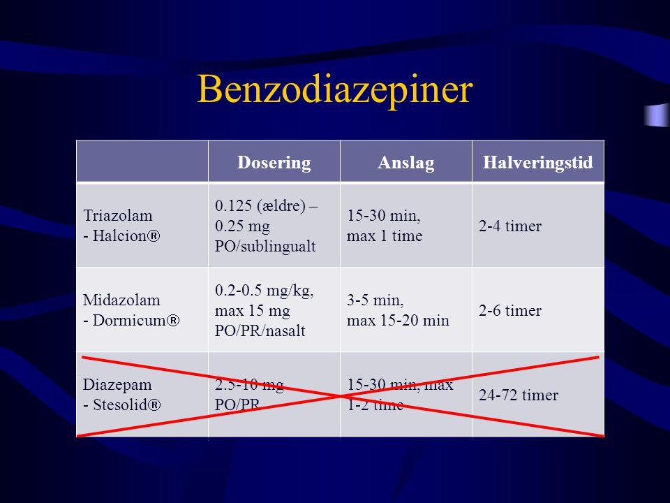 Benzodiazepiner Dosering Anslag Halveringstid Triazolam - Halcion