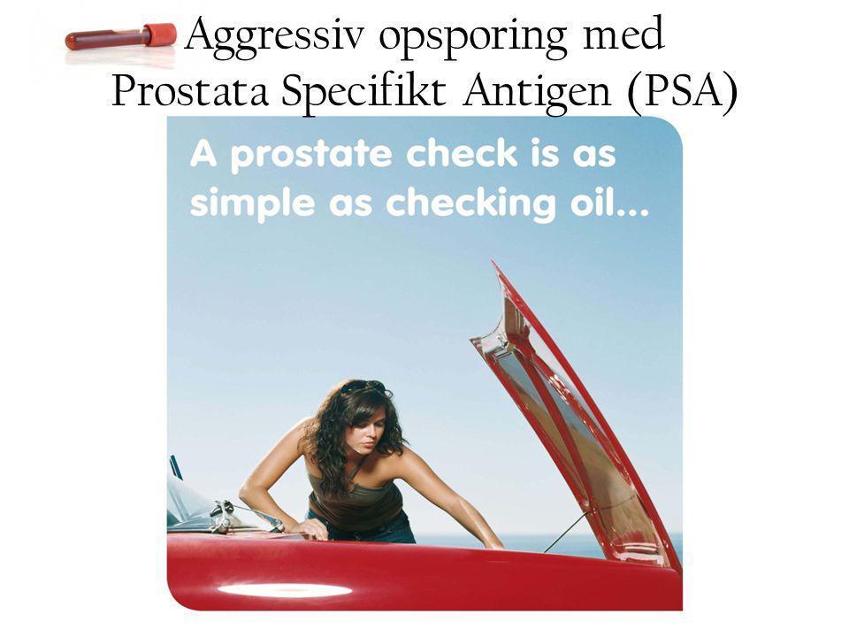 Aggressiv opsporing med Prostata Specifikt Antigen (PSA)