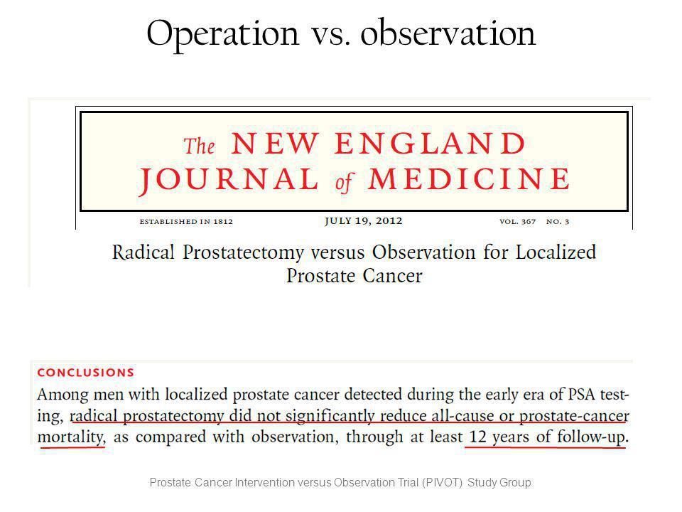 Operation vs. observation