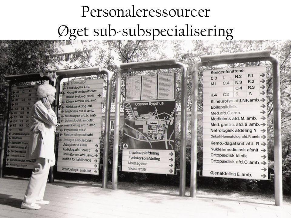 Øget sub-subspecialisering
