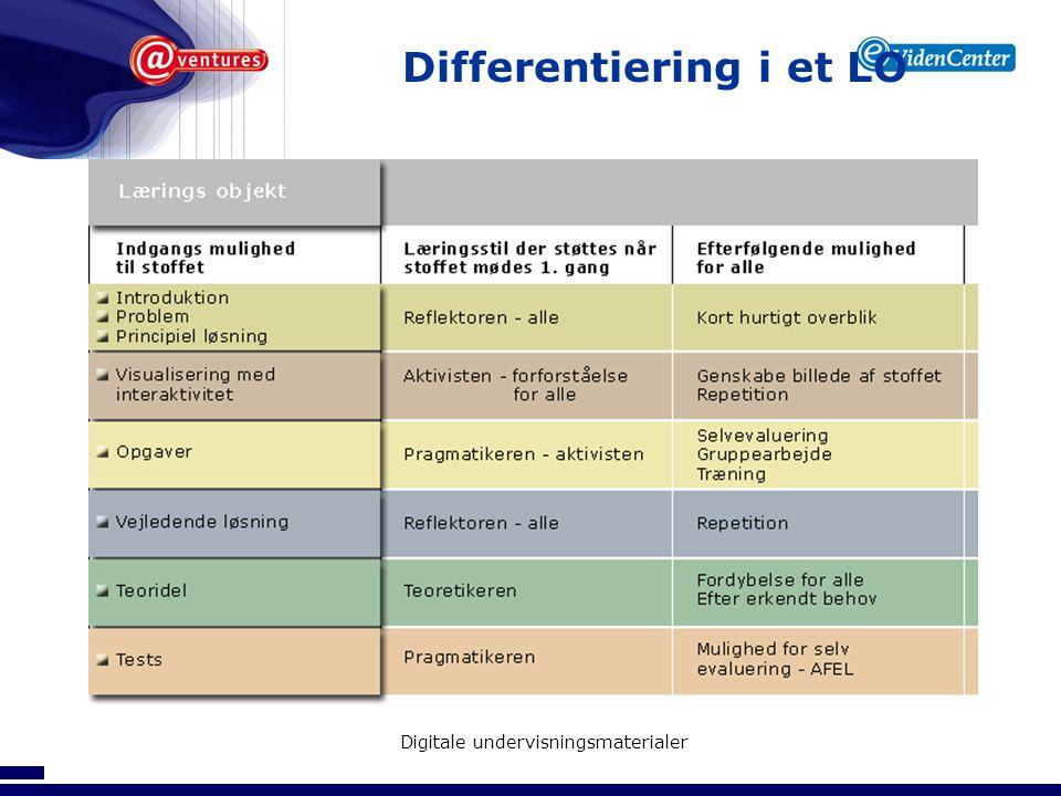 Differentiering i et LO