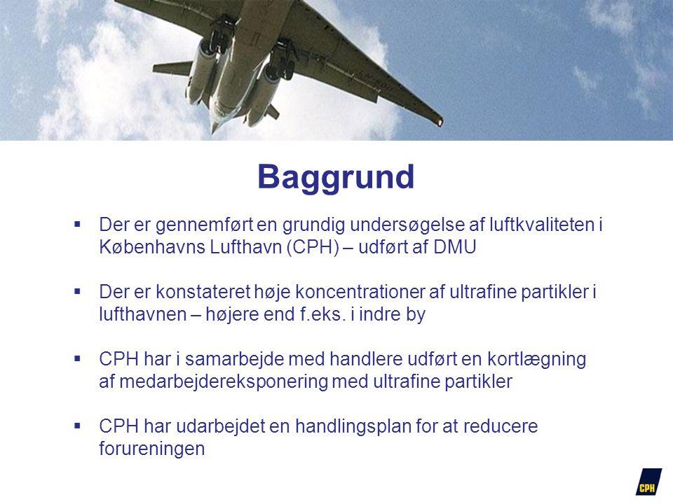 Baggrund Der er gennemført en grundig undersøgelse af luftkvaliteten i Københavns Lufthavn (CPH) – udført af DMU.