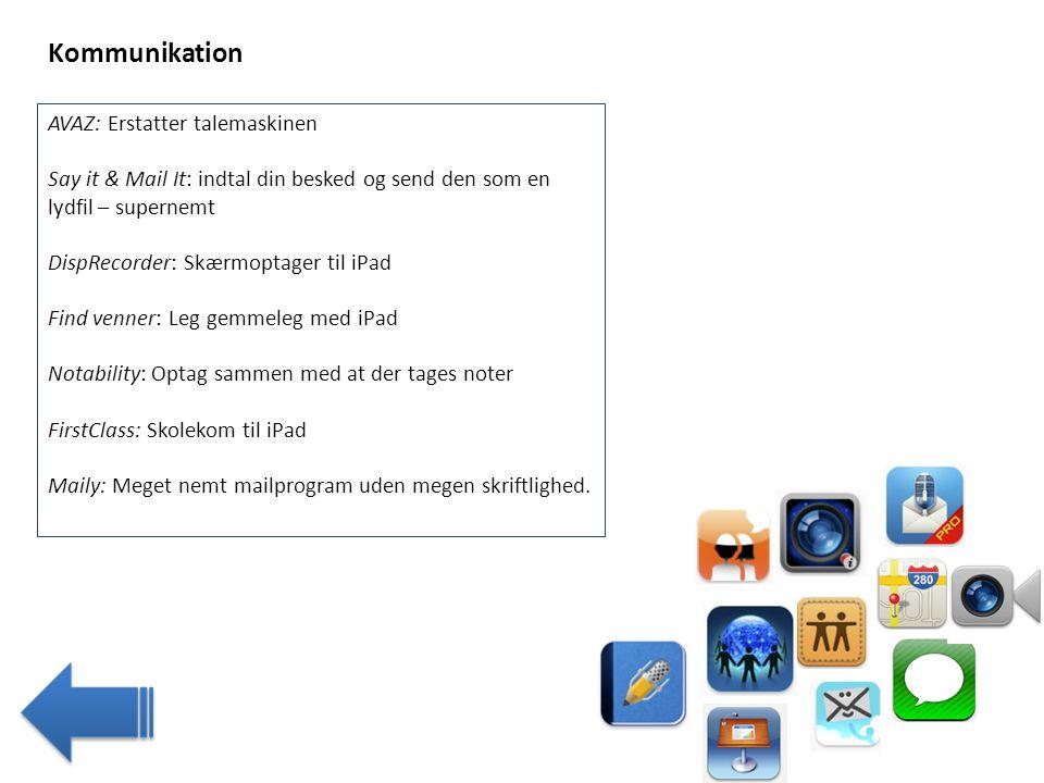 Kommunikation AVAZ: Erstatter talemaskinen
