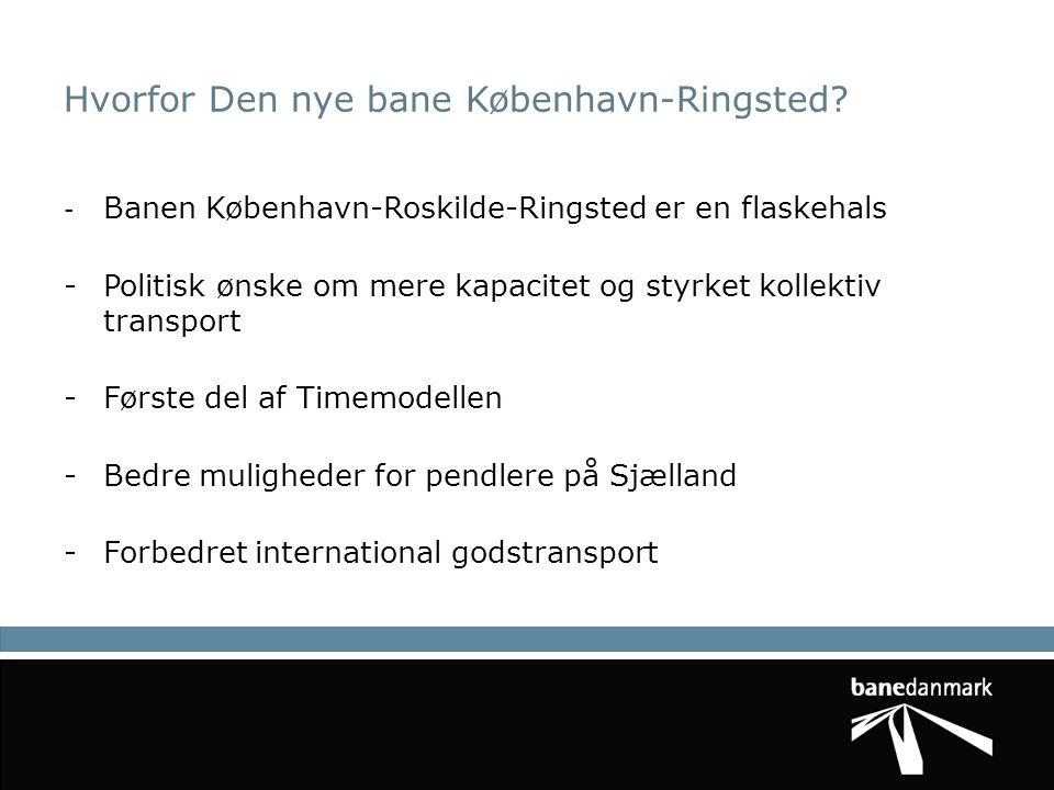 Hvorfor Den nye bane København-Ringsted