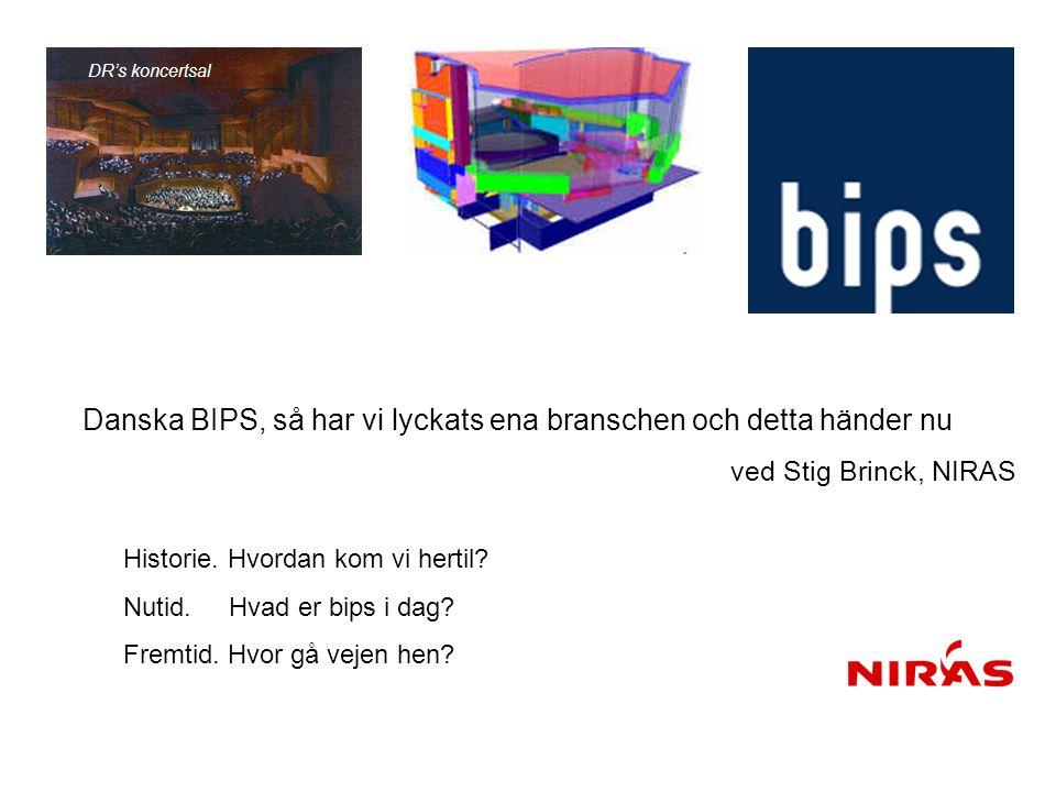 DR's koncertsal Danska BIPS, så har vi lyckats ena branschen och detta händer nu ved Stig Brinck, NIRAS.