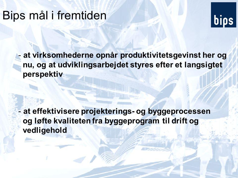 Bips mål i fremtiden at virksomhederne opnår produktivitetsgevinst her og. nu, og at udviklingsarbejdet styres efter et langsigtet.
