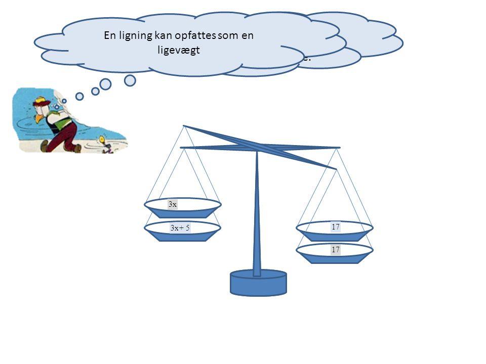 En ligning kan opfattes som en ligevægt