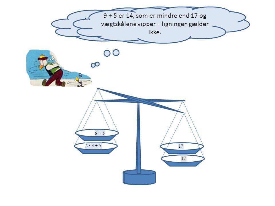 Hvis x fx erstattes med 3, bliver der ubalance.