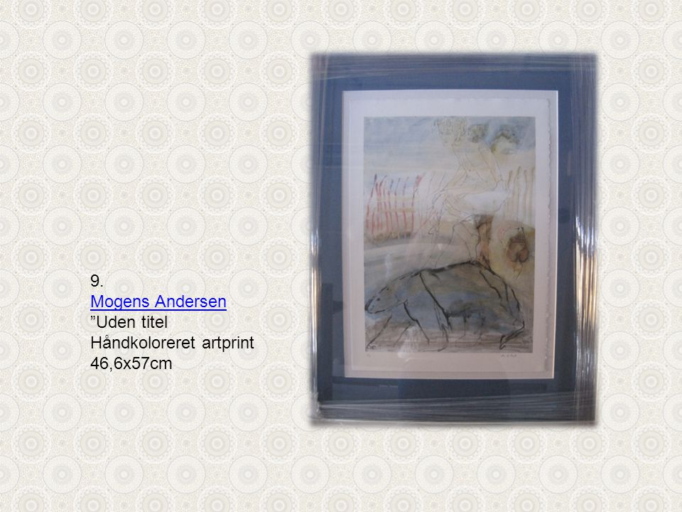 9. Mogens Andersen Uden titel Håndkoloreret artprint 46,6x57cm