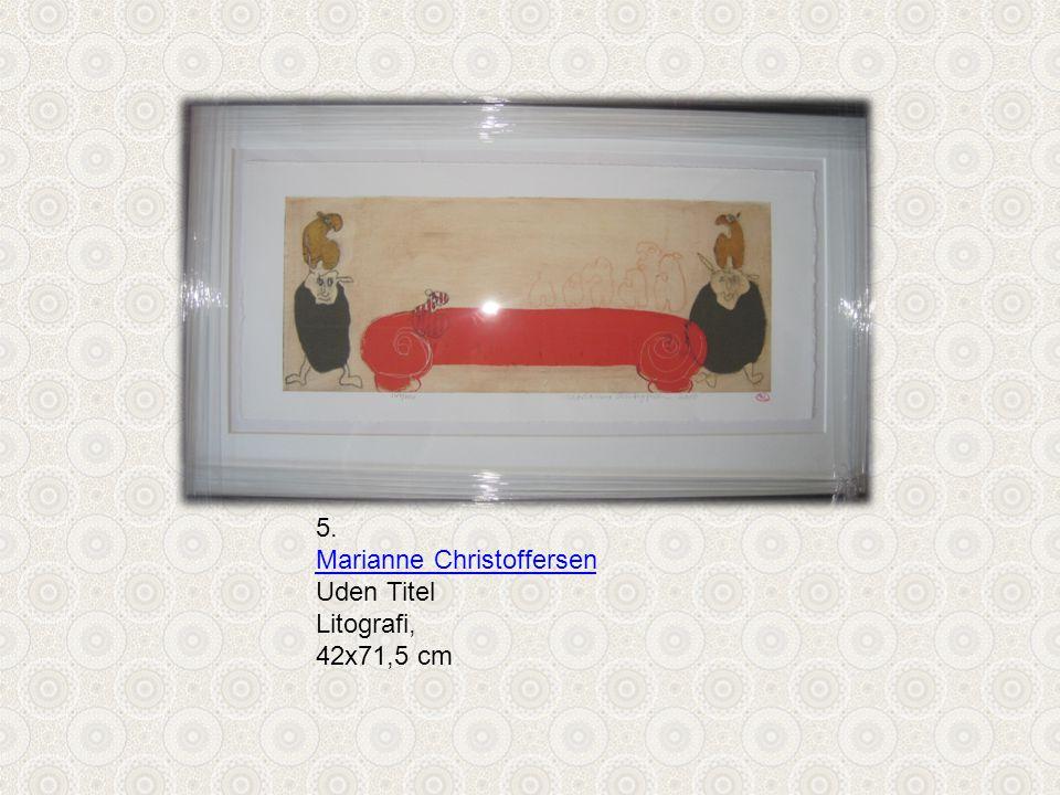 5. Marianne Christoffersen Uden Titel Litografi, 42x71,5 cm