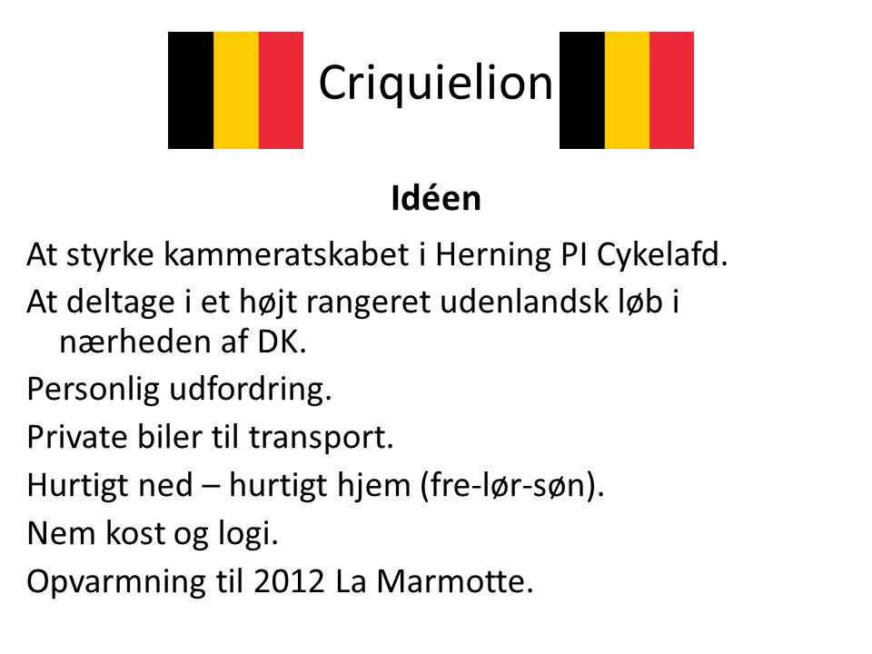 Criquielion Idéen At styrke kammeratskabet i Herning PI Cykelafd.