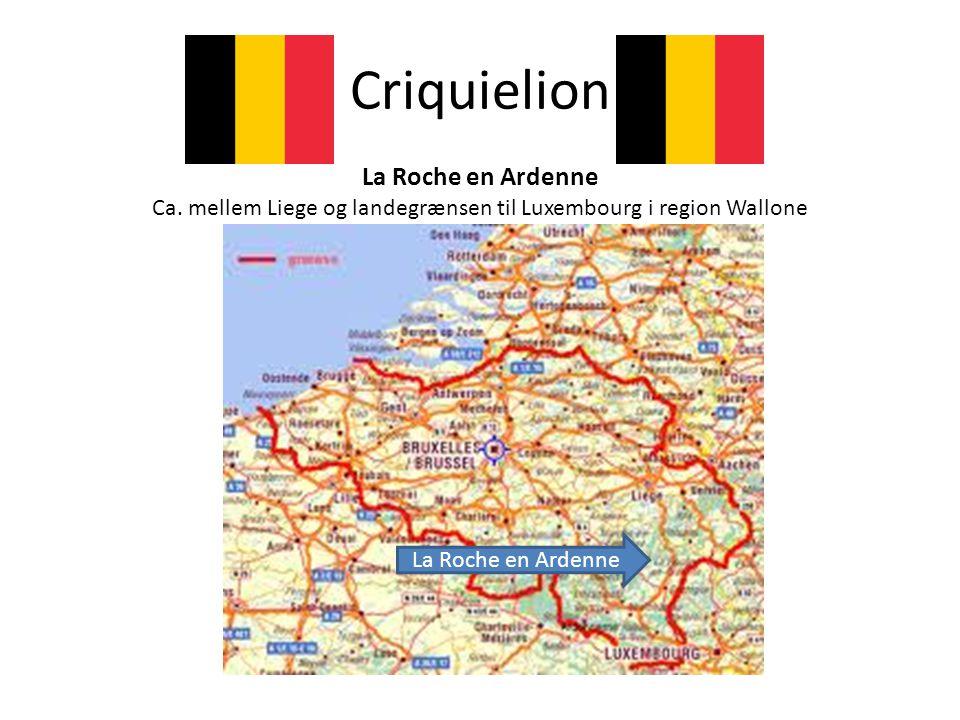 Ca. mellem Liege og landegrænsen til Luxembourg i region Wallone