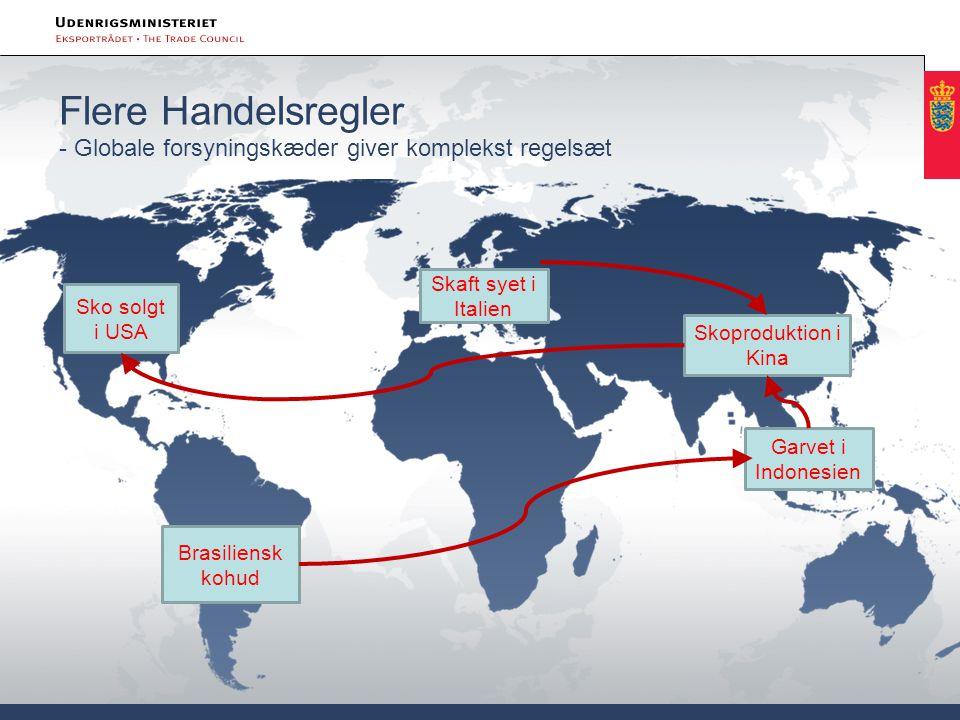 Flere Handelsregler - Globale forsyningskæder giver komplekst regelsæt