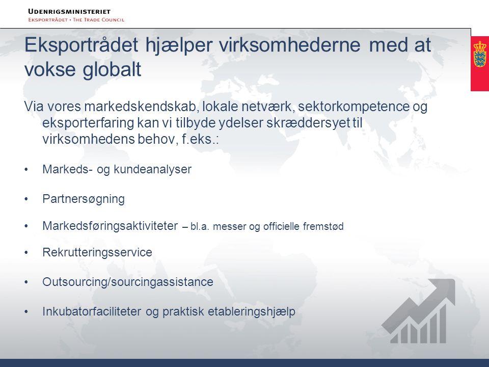 Eksportrådet hjælper virksomhederne med at vokse globalt