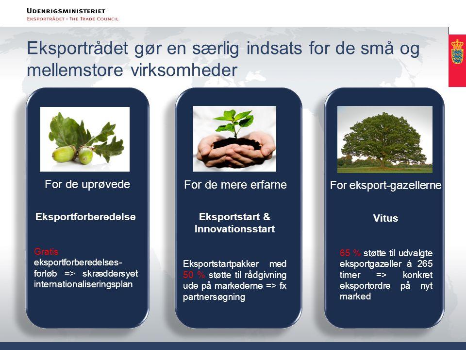 Eksportrådet gør en særlig indsats for de små og mellemstore virksomheder