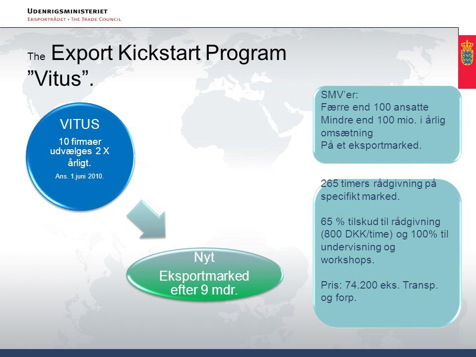 Eksportmarked efter 9 mdr. VITUS