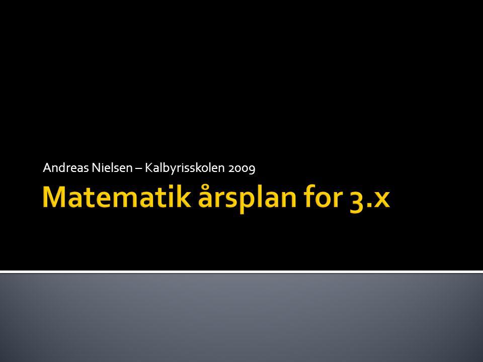 Matematik årsplan for 3.x