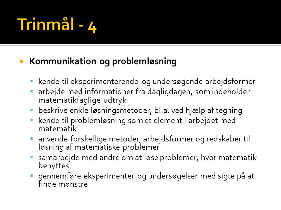 Trinmål - 4 Kommunikation og problemløsning