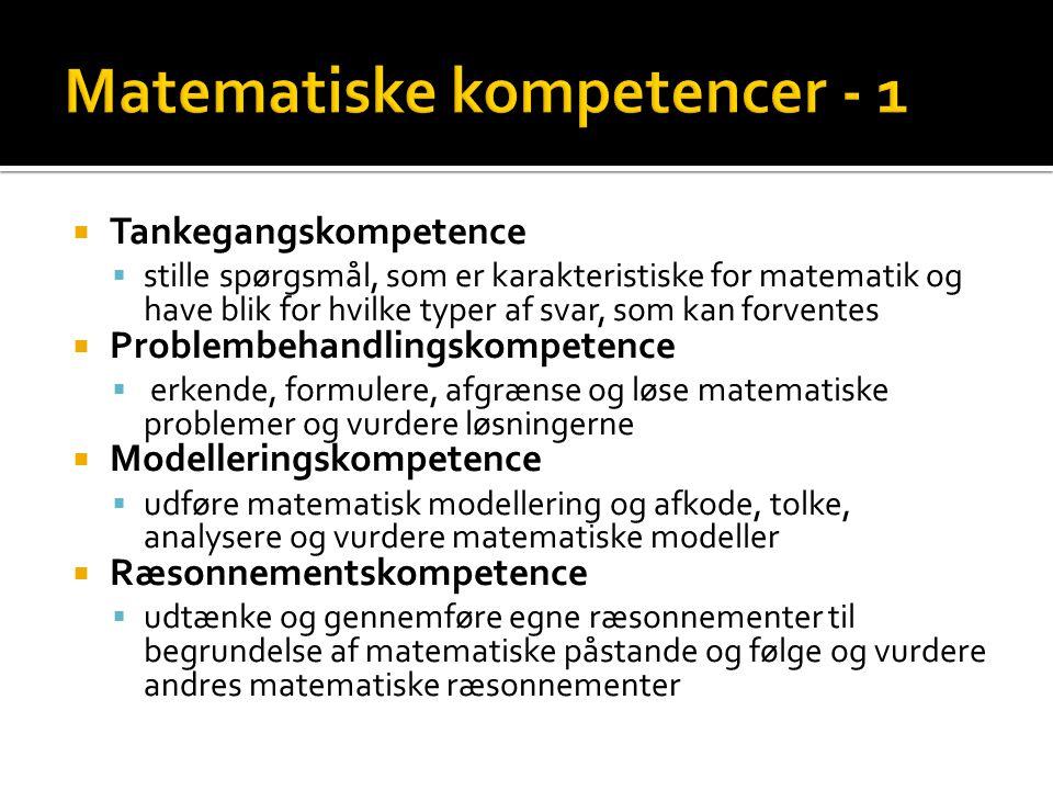 Matematiske kompetencer - 1