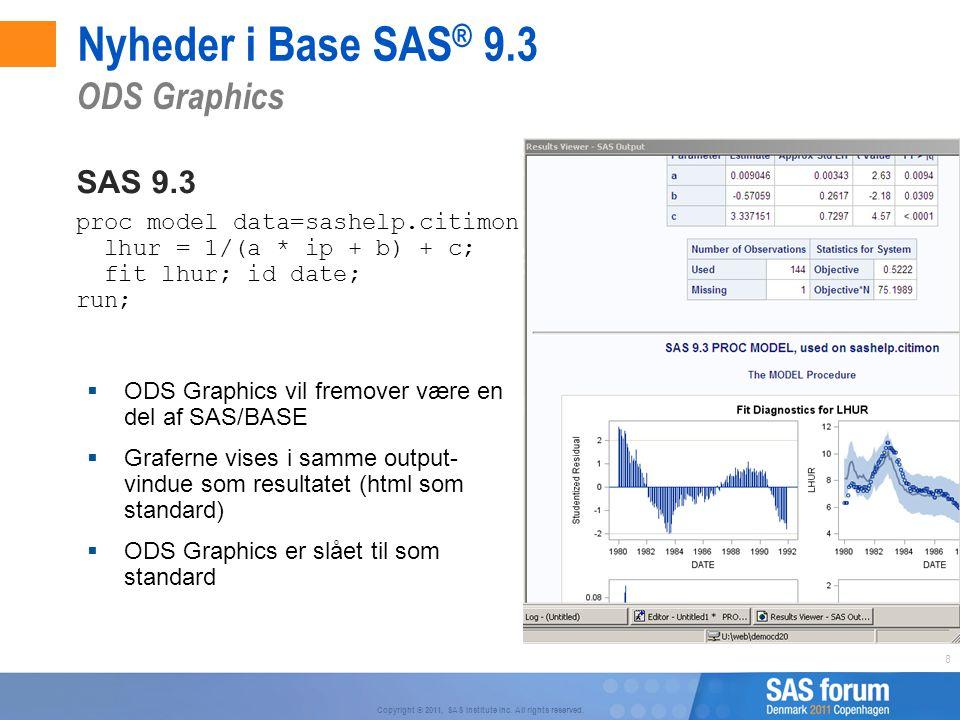 Nyheder i Base SAS® 9.3 ODS Graphics SAS 9.3