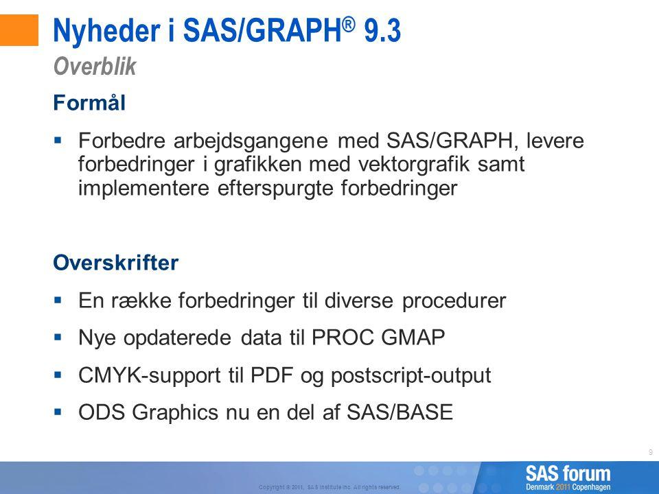 Nyheder i SAS/GRAPH® 9.3 Overblik Formål