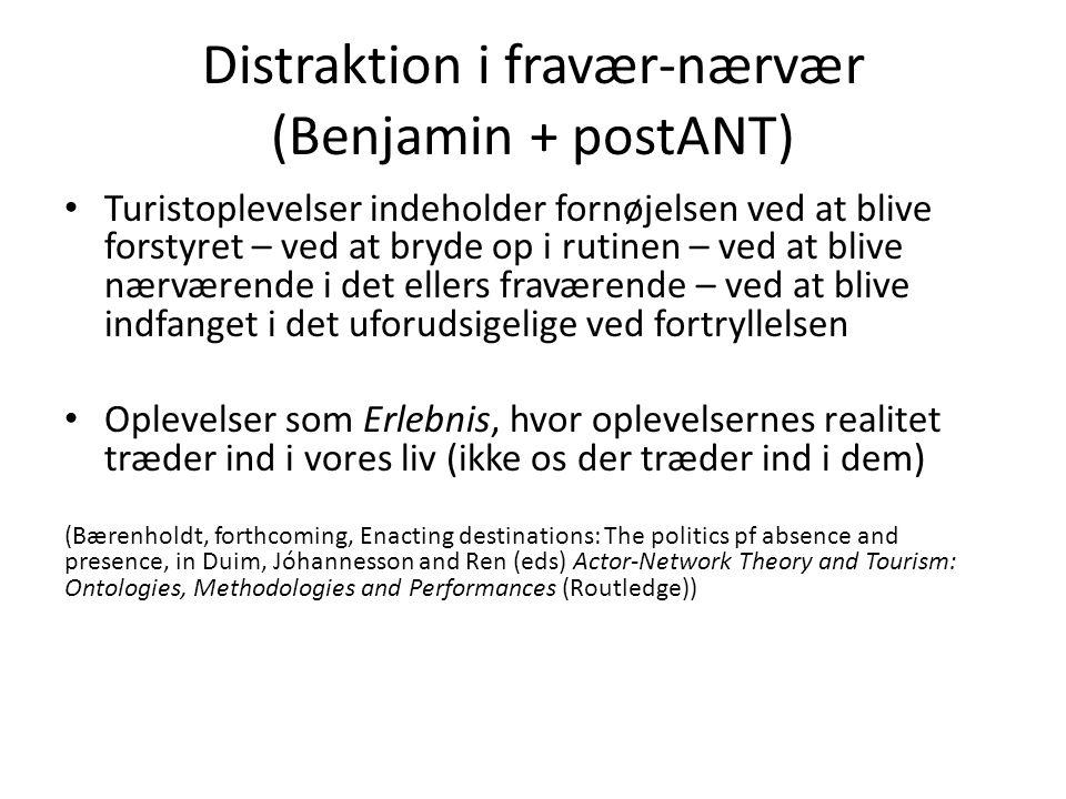 Distraktion i fravær-nærvær (Benjamin + postANT)