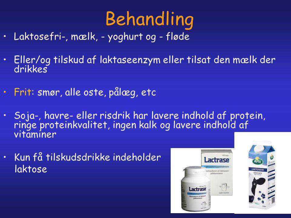 Behandling Laktosefri-, mælk, - yoghurt og - fløde