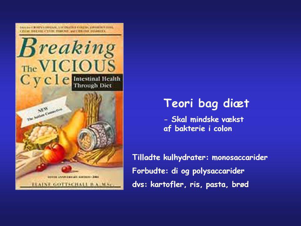 Teori bag diæt - Skal mindske vækst af bakterie i colon