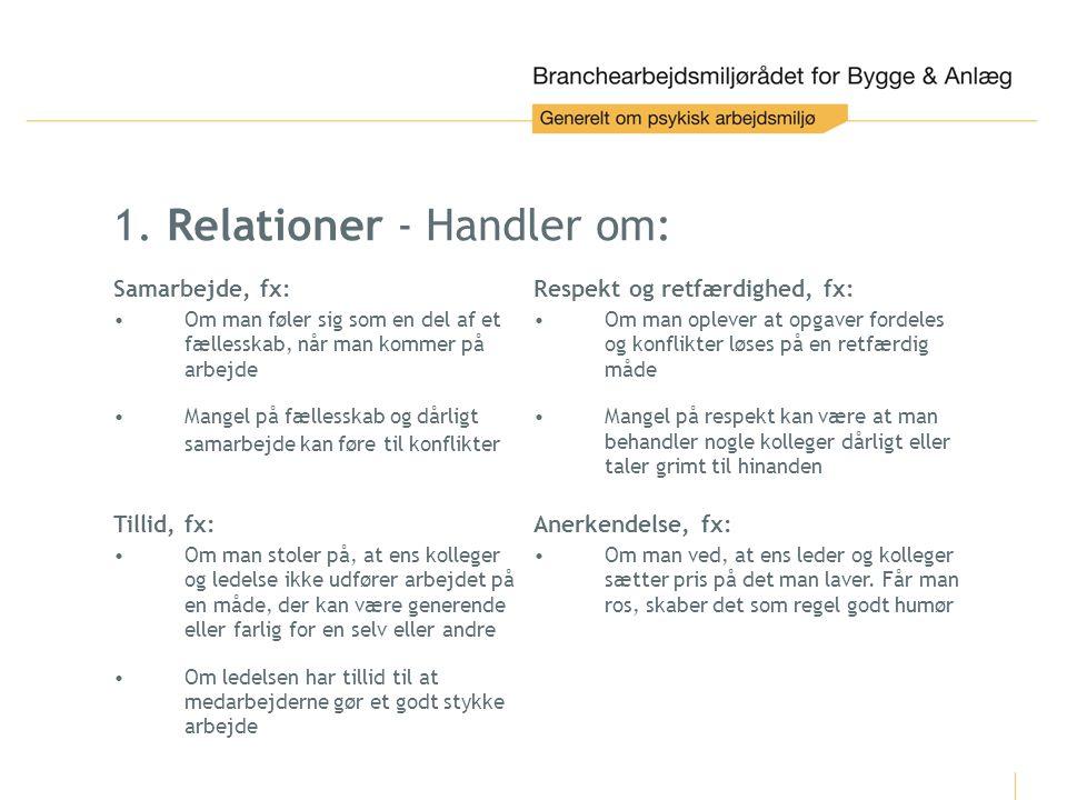 1. Relationer - Handler om: