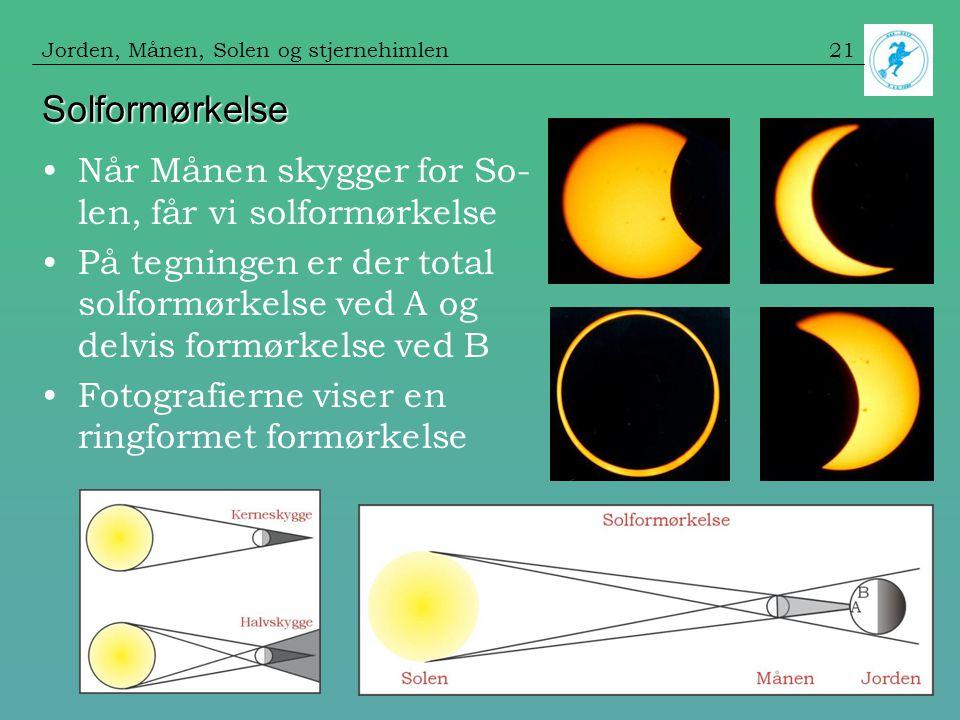Solformørkelse Når Månen skygger for So-len, får vi solformørkelse