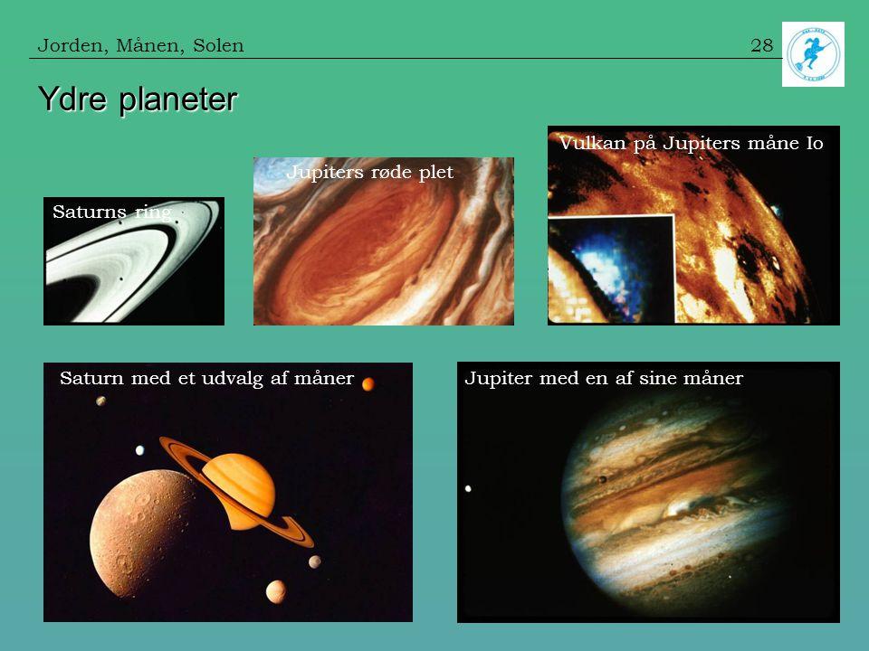 Ydre planeter Jorden, Månen, Solen Vulkan på Jupiters måne Io