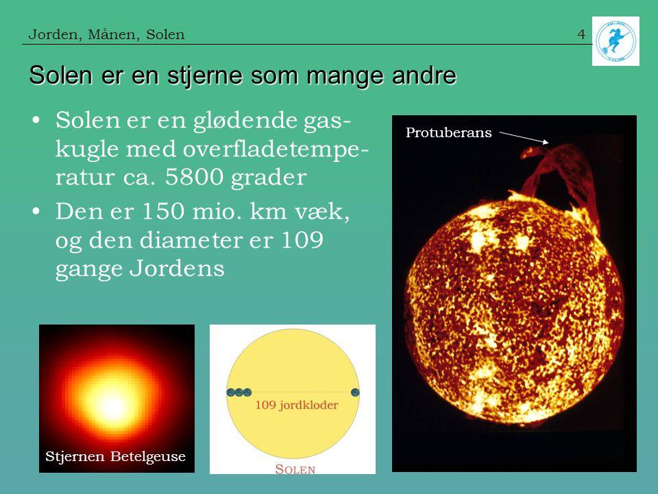 Solen er en stjerne som mange andre